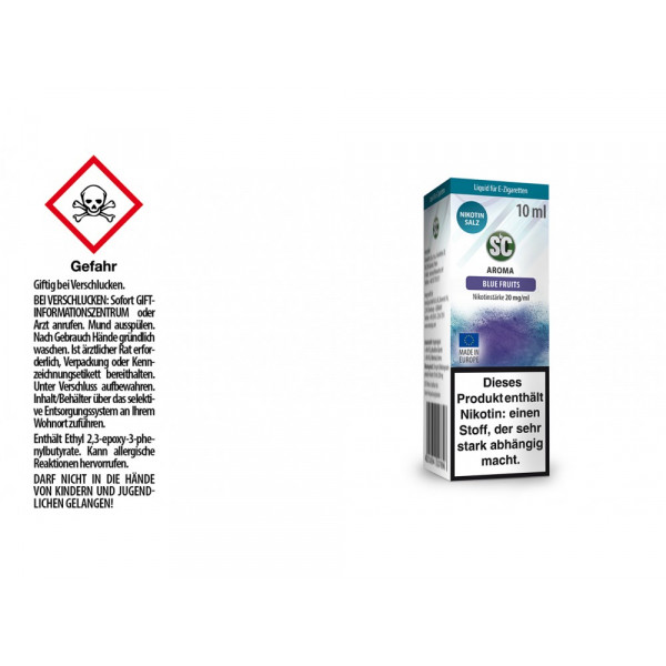 SC - Blue Fruits - E-Zigaretten Nikotinsalz Liquid - 20 mg/ml