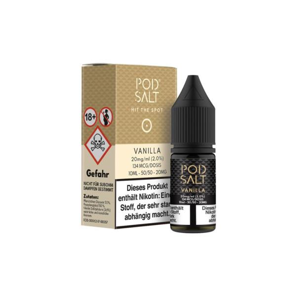 Pod Salt - Vanilla - E-Zigaretten Nikotinsalz Liquid