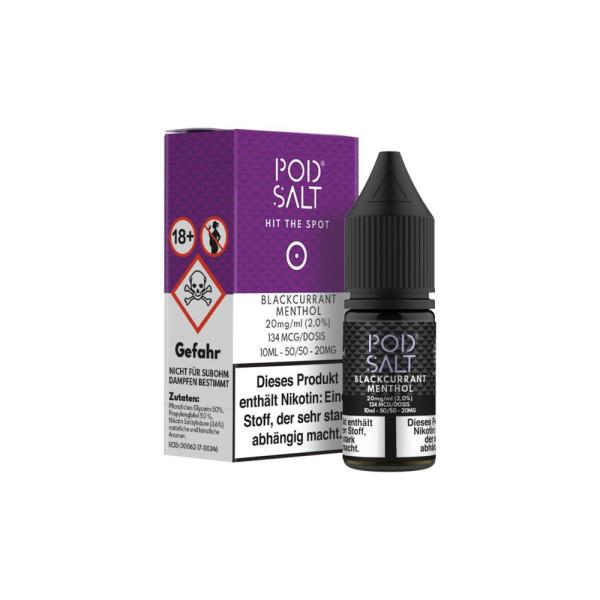 Pod Salt - Blackcurrant Menthol - E-Zigaretten Nikotinsalz Liquid