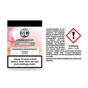 Fruit Probierbox E-Zigaretten Liquid 12 mg/ml