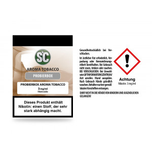 Tobacco Probierbox E-Zigaretten Liquid 3 mg/ml