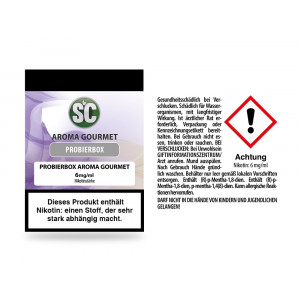 Gourmet Probierbox E-Zigaretten Liquid 6 mg/ml