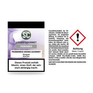 Gourmet Probierbox E-Zigaretten Liquid 12 mg/ml