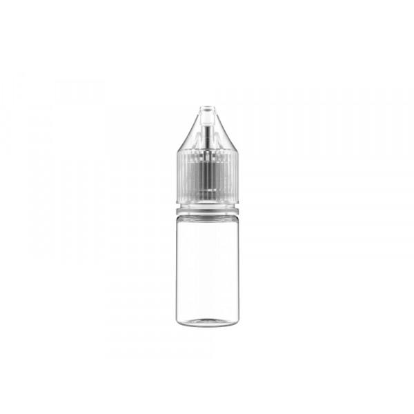 Flasche transp. + transparenter Deckel